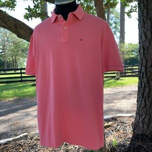 Tommy Hilfiger Classic Fit pink polo
